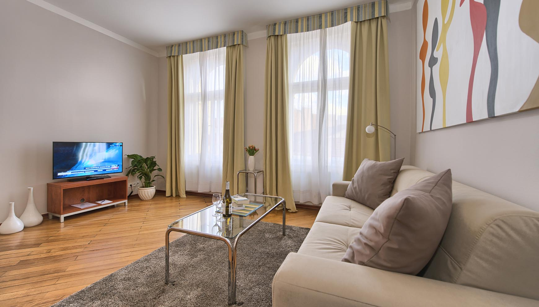 Living Room In A A One Bedroom Apartment Type 3 In Residence Masna